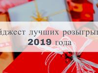 Лучшие розыгрыши призов в 2019 году